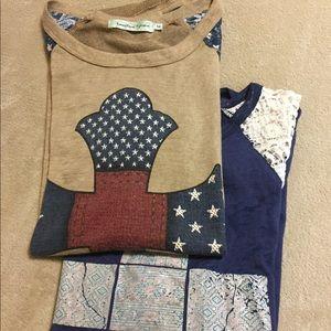 3/4 sleeve cotton blouses bundle